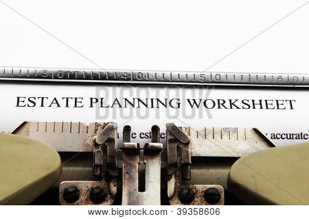 Estate Plan Worksheet