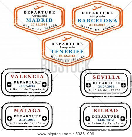 Spain visa stamps