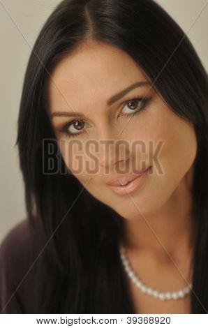 Model face close-up
