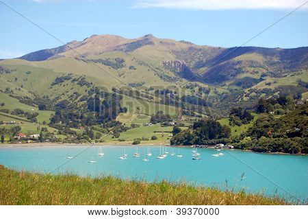 Yachts In Akaroa Bay