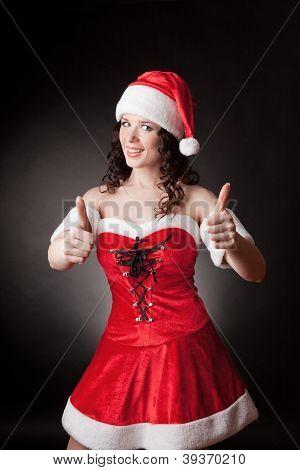 Santa girl shows OK