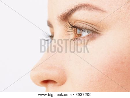 Close-Up Of A Beautiful Woman\\\'S Eyes