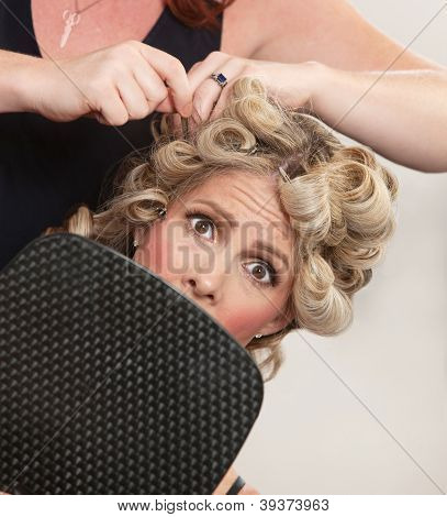 Nervous Customer In Hair Salon