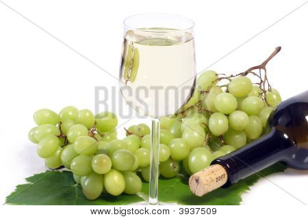 White Wine With Bottle