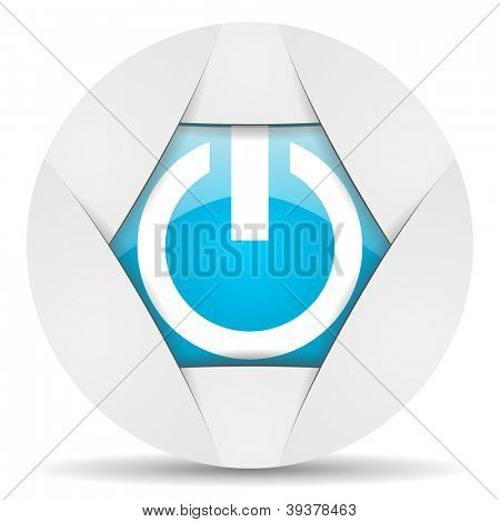 power round blue web icon on white background