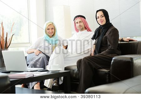 Group of multi ethnic business people