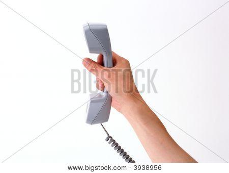 Mão do telefone