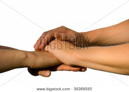 Hands Symbolizing Teamwork And Unity