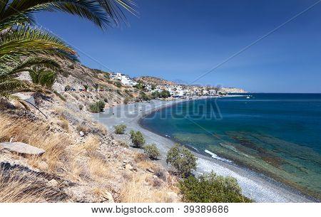 Mirtos beach at Crete island, Greece