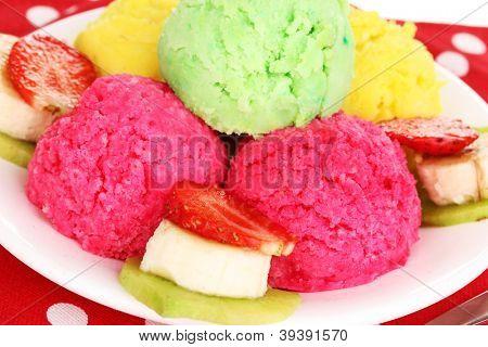 delicious ice cream close-up
