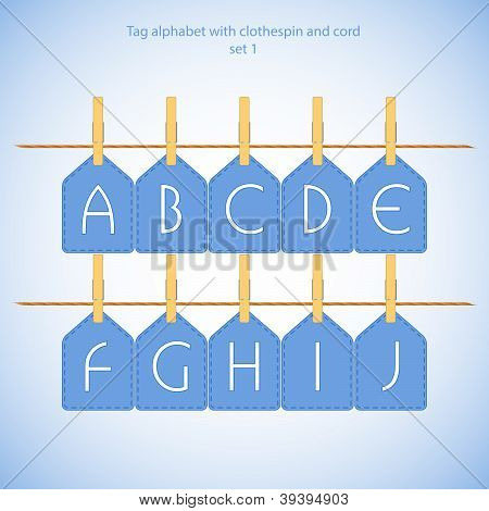 Blue alphabet set vol.1