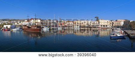 Rethymnon city at Crete island, Greece