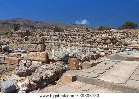 Ancient Zakros at Crete island, Greece
