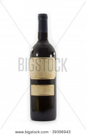 garrafa de vinho sem rótulo