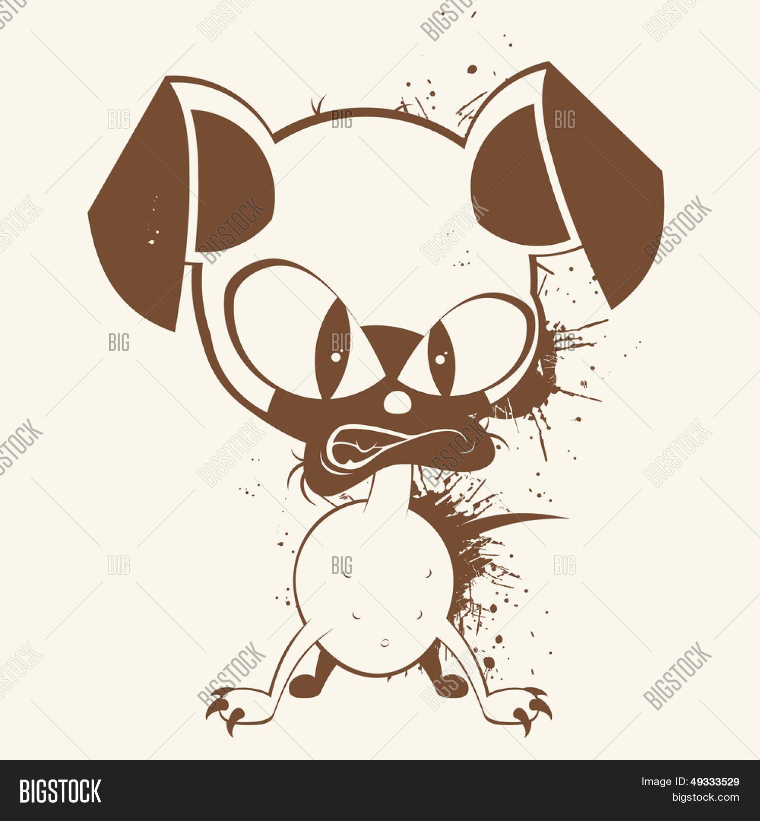 perro de dibujos animados vintage