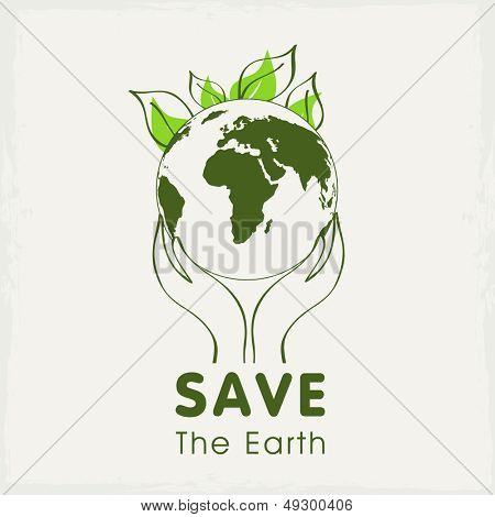 Human hands holding Earth, save earth concept.