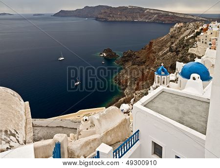 Bay Of Santorini Island, Greece