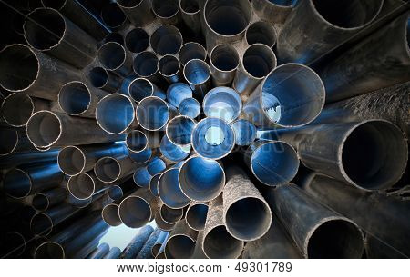 Metal Tubes With Light