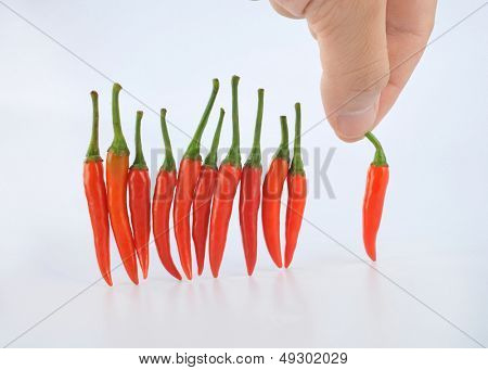Selection of small hot pepper