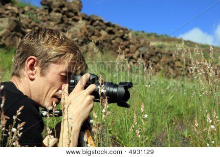 Photographer Make A Photo On A Nature