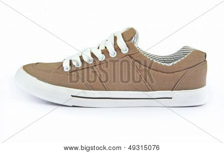 A brown shoe on isolated background
