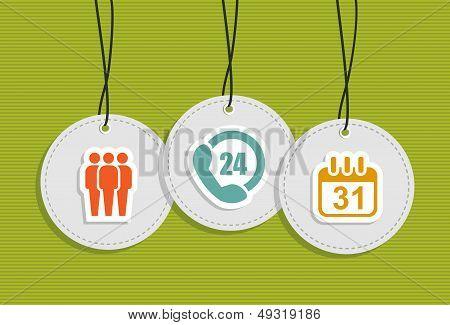 Hanging Service Center Badges