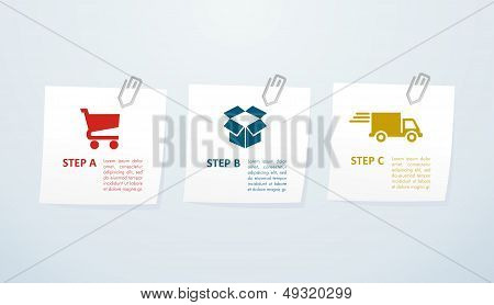 E Commerce Steps Info Graphics