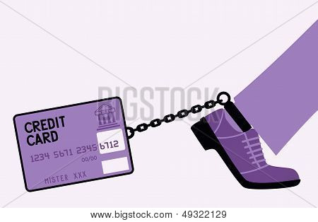 Bank card fetters