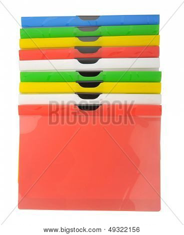 multicolored folder detail for office uses and management