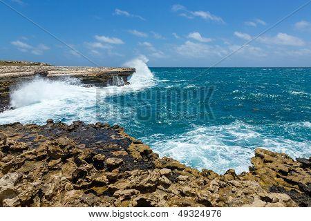 Rocky Coastline Near Devil's Bridge Antigua