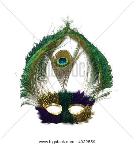 Mardi Gras Peacock Maske