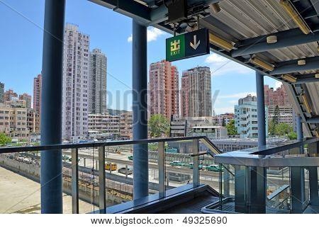 Hong Kong Yuen Long MTR exit