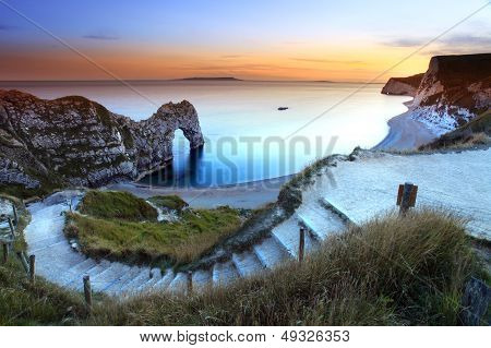 Durdle Door sunset