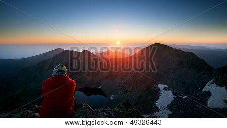 Man And Sunrise