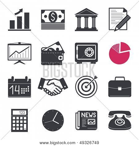 Bank & Finances Icons set