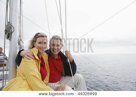 Couple on yacht portrait
