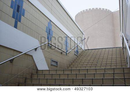 Dubai UAE staircase. Deira old fortress.