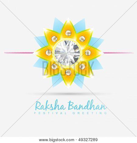 vector indian festival rakhi on stylish background