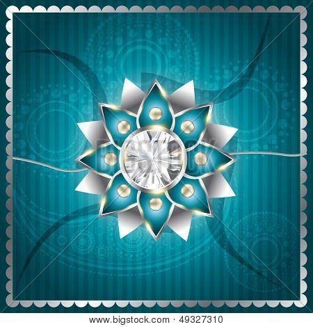 stylish vector rakhi background design