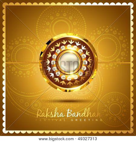 vector shiny golden rakhi background