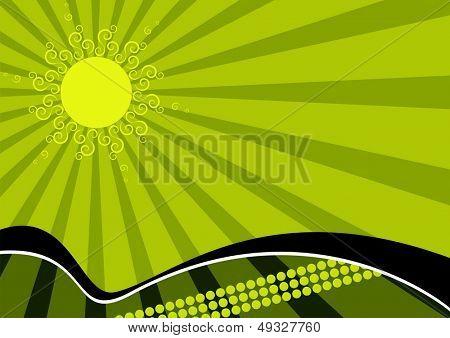 green sun