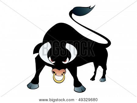 angry bull  symbol