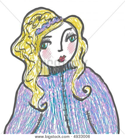 Pretty Blond Illustration