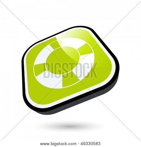 modern lifesaver symbol