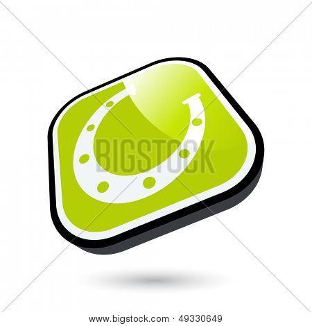 modern horseshoe symbol