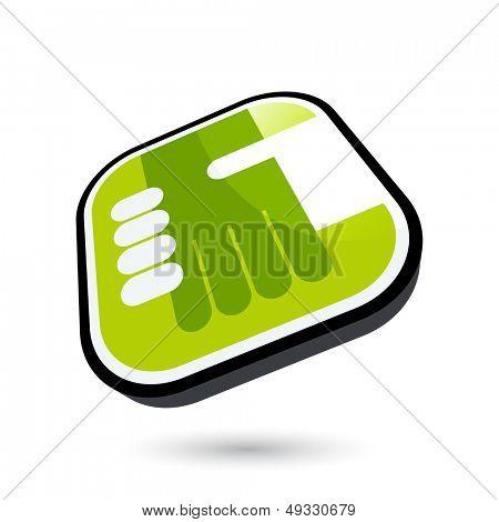 modern handshake symbol