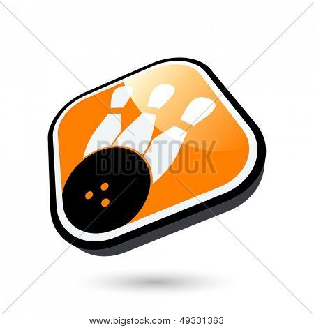 modern bowling sign
