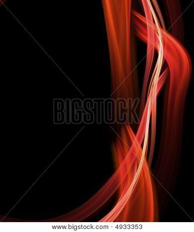 Ribbon Flows Abstract