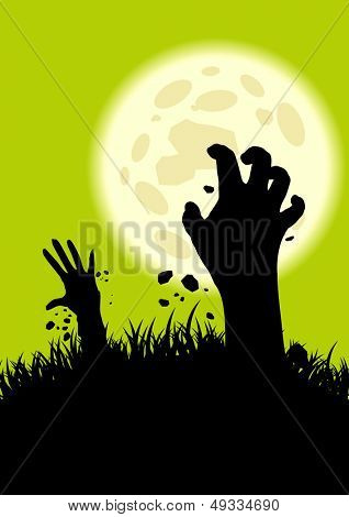 creepy zombie hand background