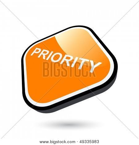 modern priority sign